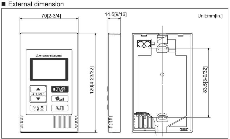 Telecomanda Mitsubishi Electric PAC-YT52 CRA SCHEMA
