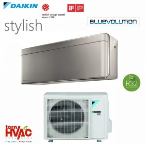Aer conditionat Daikin Stylish inverter FTXA42BS+RXA42A 15000 BTU Argintiu R32