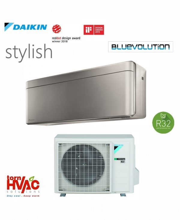 Aer conditionat Daikin Stylish FTXA35BS+RXA35A 12000 BTU Argintiu R32