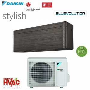 Aer conditionat Daikin Stylish inverter FTXA42BT+RXA42A 15000 BTU Negru R32