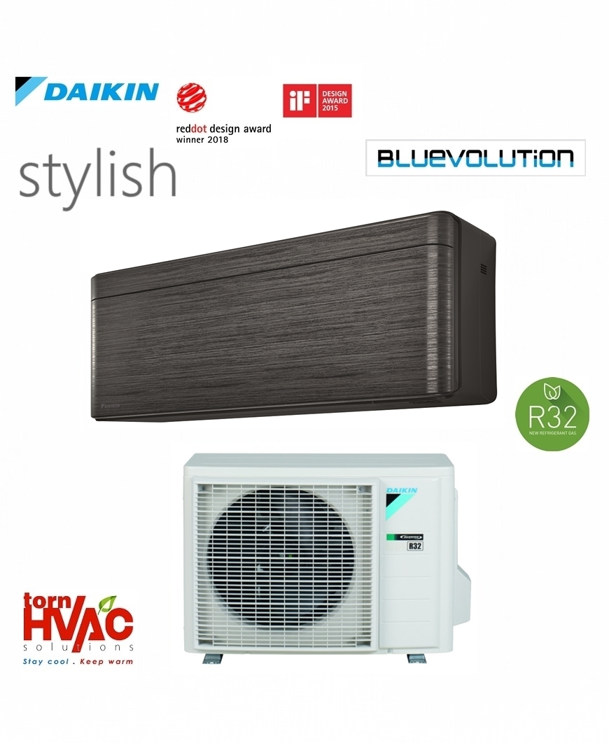 Aer conditionat Daikin Stylish inverter FTXA25BT+RXA25A 9000 BTU Negru R32