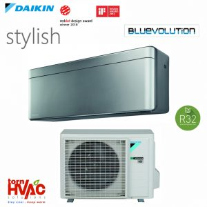 Aer conditionat Daikin Stylish FTXA25AS+RXA25A 9000 btu Argintiu cu negru