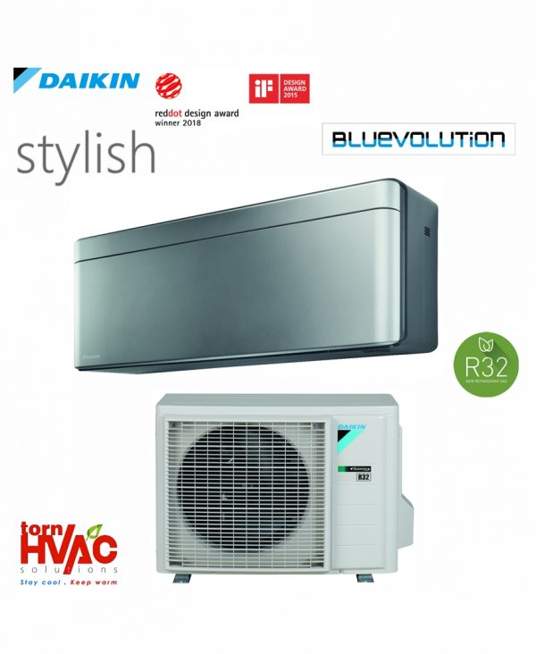Aer conditionat Daikin Stylish FTXA35AS+RXA35A 12000 btu Argintiu cu negru
