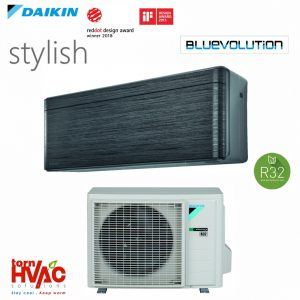 Aer conditionat Daikin Stylish FTXA35AT+RXA35A 12000 btu Negru R32
