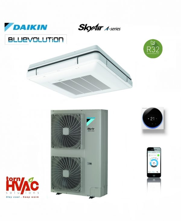 R32 Daikin Sky Air Bluevolution Caseta suspendata cu refulare in 4 directii FUA-A+RZAG-MV1,MY1
