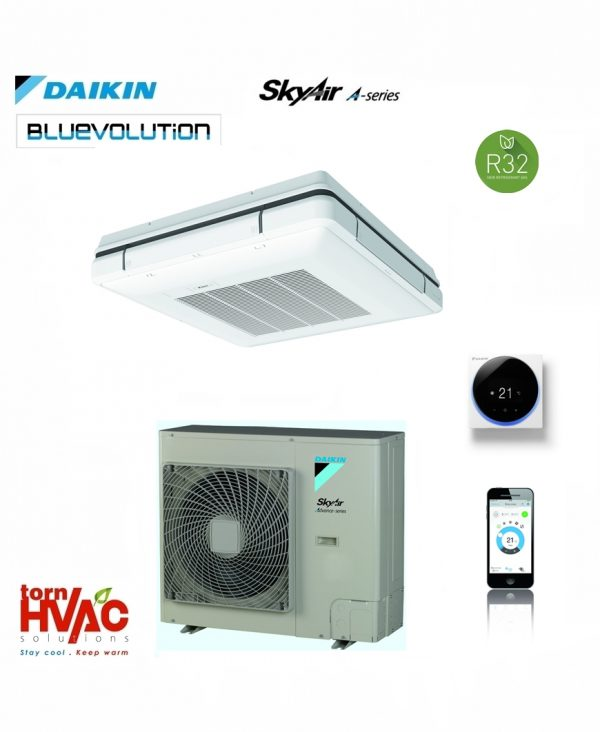 R32 Daikin Sky Air Bluevolution Caseta suspendata cu refulare in 4 directii FUA-A+RZASG-MV1,MY1