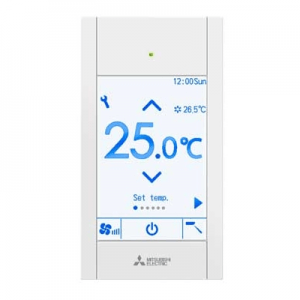 Mitsubishi Electric PAR-CT01MAA Touch Remote Controller Silver Black (white)