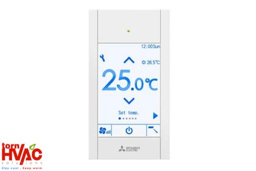 Mitsubishi Electric PAR-CT01MAA Touch Remote Controller Silver Black (white)
