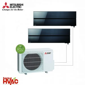 Aer conditionat Mitsubishi Electric Multisplit MXZ-2F42VF+2xMSZ-LN25VGB(2x9000 BTU) R32 Negru onix