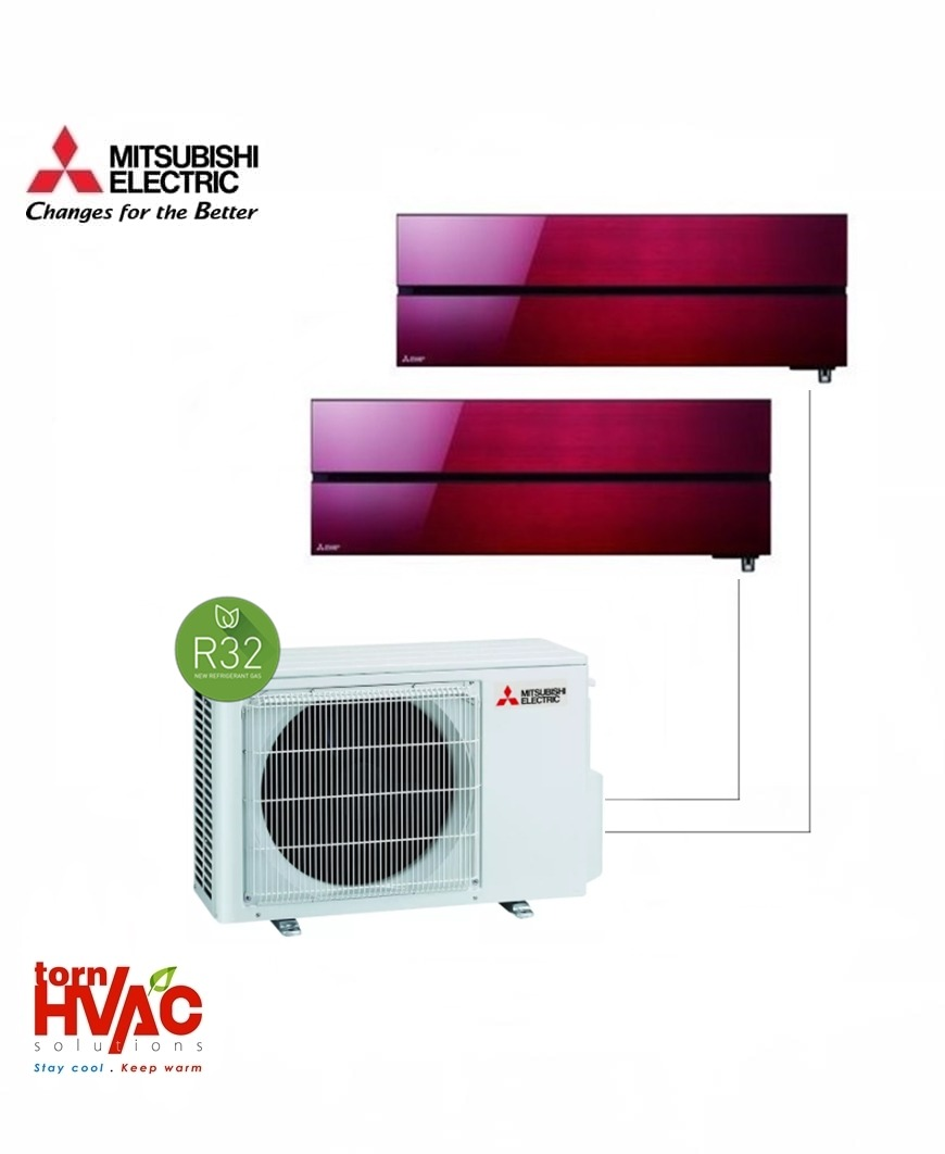 Aer conditionat Mitsubishi Electric Multisplit MXZ-2F42VF+2xMSZ-LN25VGR (2x9000 BTU) R32 Rosu