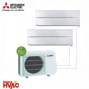 Aer conditionat Mitsubishi Electric Multisplit MXZ-2F42VF+2xMSZ-LN25VGV (2x9000 BTU) R32 Alb perlat