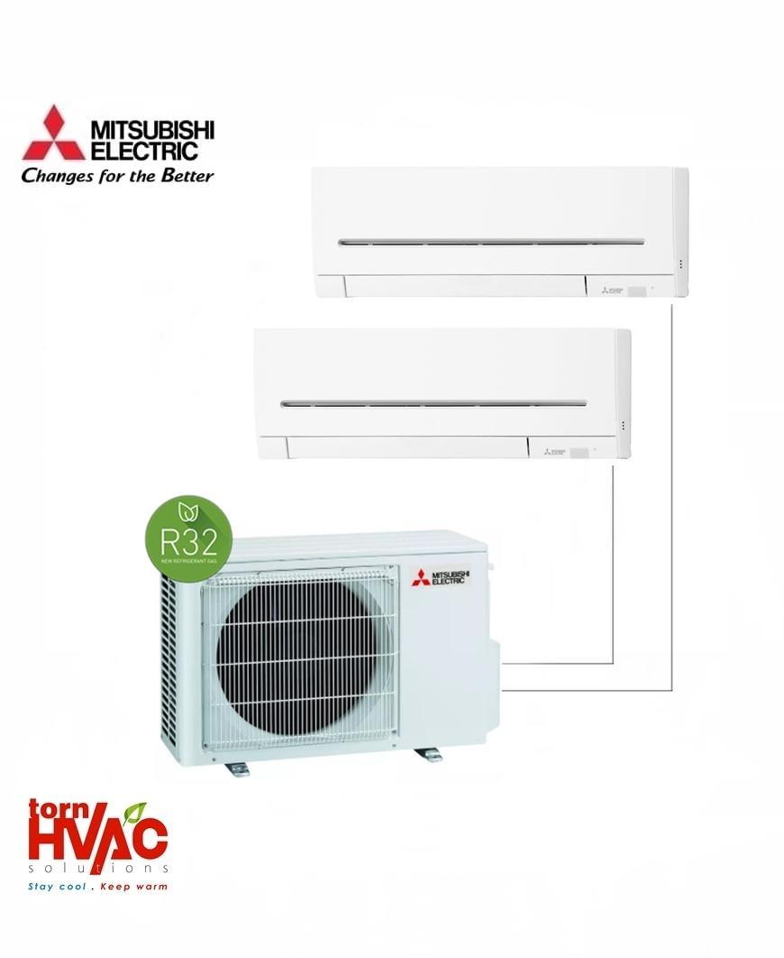 Aer conditionat Mitsubishi Electric Multisplit MXZ-2F53VF+MSZ-AP25VG+MSZ-AP35VG (1x9000 BTU+1x12000 BTU) R32