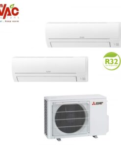 Aer conditionat Mitsubishi Electric Multisplit MXZ-2HA50VF+MSZ-HR25VF+MSZ-HR35VF (1x9000 BTU+1x12000 BTU) R32