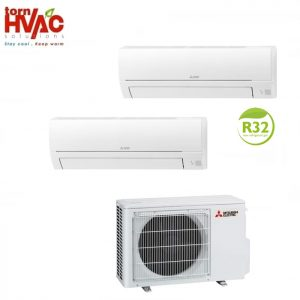 Aer conditionat Mitsubishi Electric Multisplit MXZ-2HA50VF+MSZ-HR25VF+MSZ-HR42VF (1x9000 BTU+1x15000 BTU) R32
