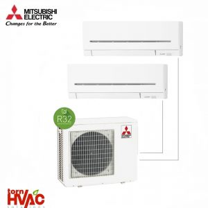Aer conditionat Mitsubishi Electric Multisplit MXZ-3F68VF+2xMSZ-AP35VG (2x12000 BTU) R32