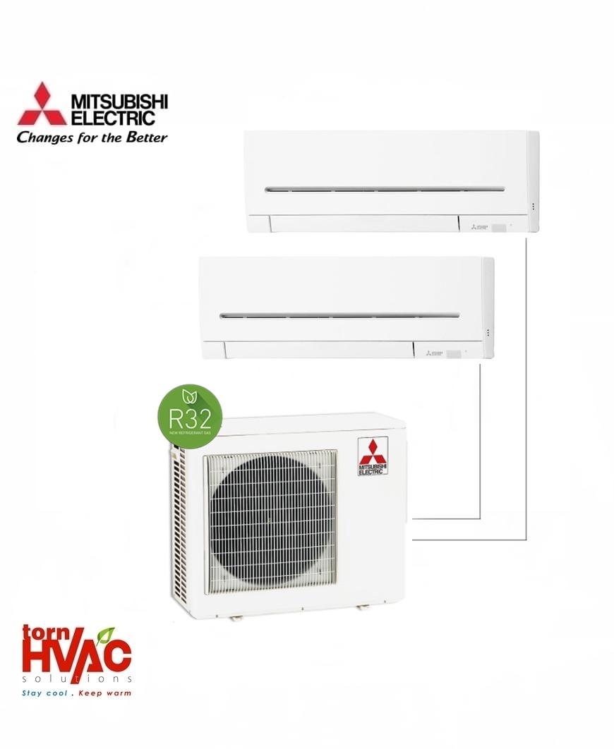 Aer conditionat Mitsubishi Electric Multisplit MXZ-3F68VF+2xMSZ-AP35VG (2x12000 BTU) R32