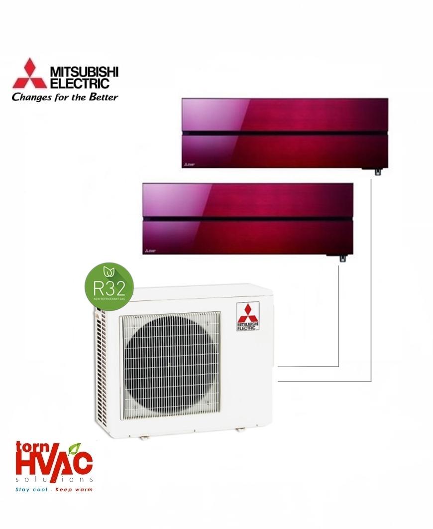 Aer conditionat Mitsubishi Electric Multisplit MXZ-3F68VF+2xMSZ-LN35VGR (2x12000 BTU) R32 Rosu