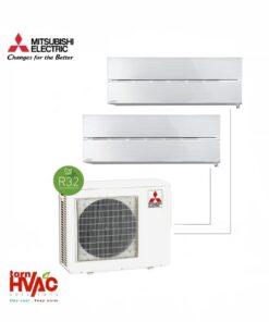 Aer conditionat Mitsubishi Electric Multisplit MXZ-3F68VF+2xMSZ-LN35VGV (2x12000 BTU) R32 Alb perlat