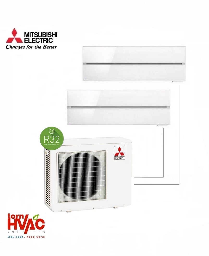 Aer conditionat Mitsubishi Electric Multisplit MXZ-3F68VF+2xMSZ-LN35VGW (2x12000 BTU) R32 Alb