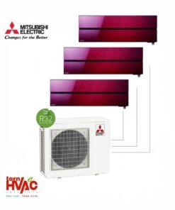 Aer conditionat Mitsubishi Electric Multisplit MXZ-3F68VF+3xMSZ-LN25VGR (3x9000 BTU) R32 Rosu