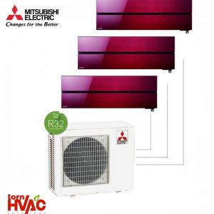 Aer conditionat Mitsubishi Electric Multisplit MXZ-3F68VF+3xMSZ-LN25VGR (3x9000 BTU) R32 Rosu