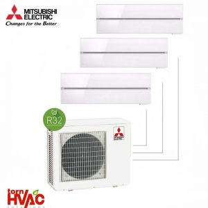 Aer conditionat Mitsubishi Electric Multisplit MXZ-3F68VF+3xMSZ-LN25VGW (3x9000 BTU) R32 Alb