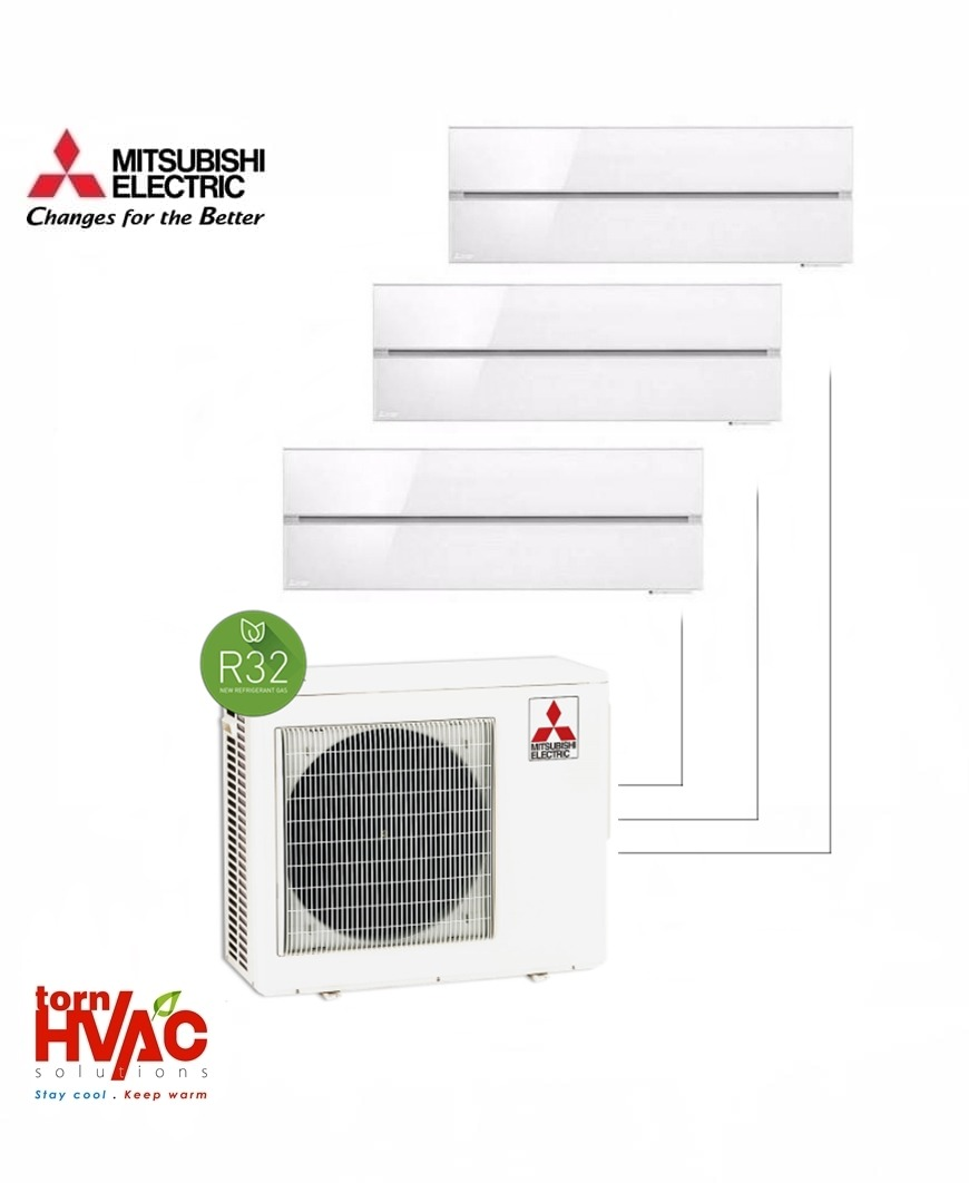 Aer conditionat Mitsubishi Electric Multisplit MXZ-3F68VF+3xMSZ-LN25VGW (3x9000 BTU) R32 Alb