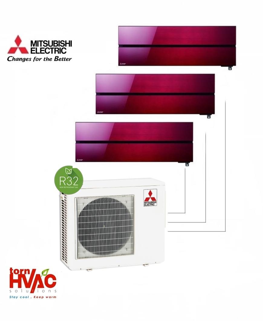 Aer conditionat Mitsubishi Electric Multisplit MXZ-4F72VF+2xMSZ-LN25VGR+MSZ-LN35VGR (2x9000 BTU+1x12000 BTU) R32 Rosu
