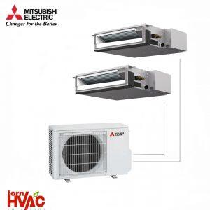 Aer conditionat Mitsubishi Electric Multisplit Duct MXZ-2D53VA+SEZ-M25DA+SEZ-M35DA (1x9000 BTU+1x12000 BTU)