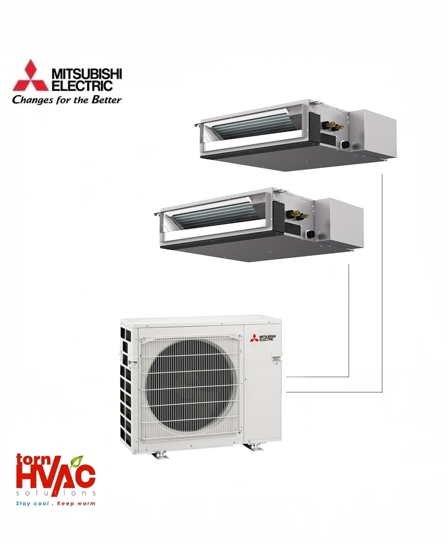 Aer conditionat Mitsubishi Electric Multisplit Duct MXZ-3E68VA+2xSEZ-M35DA (2x12000 BTU)