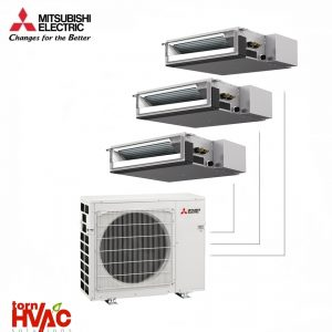 Aer conditionat Mitsubishi Electric Multisplit Duct MXZ-3E68VA+3xSEZ-M25DA (3x9000 BTU)