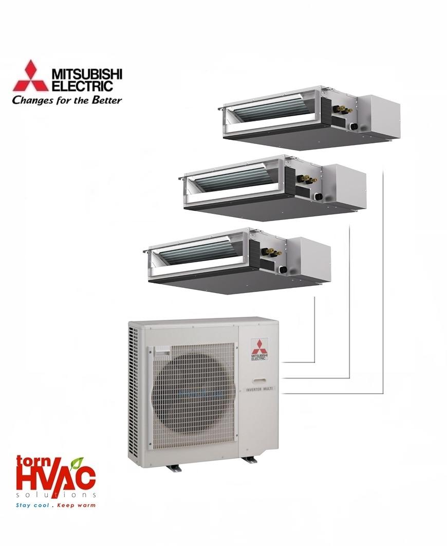 Aer conditionat Mitsubishi Electric Multisplit Duct MXZ-4E83VA+2xSEZ-M25DA+SEZ-M35DA (2x9000 BTU+1x12000 BTU)