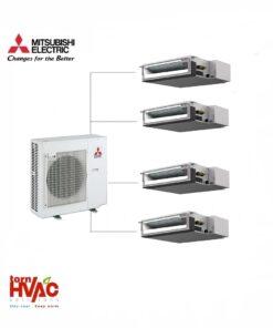 Aer conditionat Mitsubishi Electric Multisplit Duct MXZ-4E83VA+4xSEZ-M25DA (4x9000 BTU)