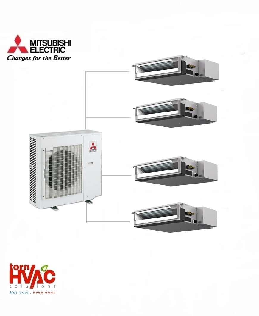 Aer conditionat Mitsubishi Electric Multisplit Duct MXZ-4E83VA+4xSEZ-M25DA (4x9000 BTU)