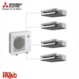 Aer conditionat Mitsubishi Electric Multisplit Duct MXZ-5E102VA+3xSEZ-M25DA+SEZ-M35DA (3x9000 BTU+1x12000 BTU)