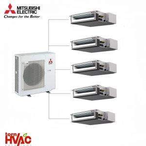 Aer conditionat Mitsubishi Electric Multisplit Duct MXZ-6D122VA+5xSEZ-M25DA (5x9000 BTU)