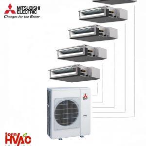 Aer conditionat Mitsubishi Electric Multisplit Duct MXZ-6D122VA+5xSEZ-M25DA (5x9000 BTU)