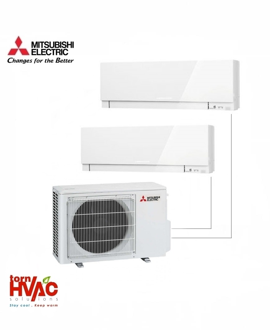 Aer conditionat Mitsubishi Electric Multisplit MXZ-2D42VA+2xMSZ-EF25VEW (2x9000 BTU) Kirigamine Zen Alb