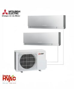 Aer conditionat Mitsubishi Electric Multisplit MXZ-2D53VA+MSZ-EF25VES+MSZ-EF35VES (1x9000 BTU+1x12000 BTU) Kirigamine Zen Argintiu