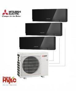 Aer conditionat Mitsubishi Electric Multisplit MXZ-3E68VA+3xMSZ-EF25VEB (3x9000 BTU) Kirigamine Zen Negru