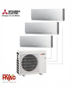 Aer conditionat Mitsubishi Electric Multisplit MXZ-3E68VA+3xMSZ-EF25VES (3x9000 BTU) Kirigamine Zen Argintiu