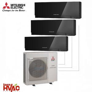 Aer conditionat Mitsubishi Electric Multisplit MXZ-4E83VA+2xMSZ-EF25VEB+MSZ-EF35VEB (2x9000 BTU+1x12000 BTU) Kirigamine Zen Negru