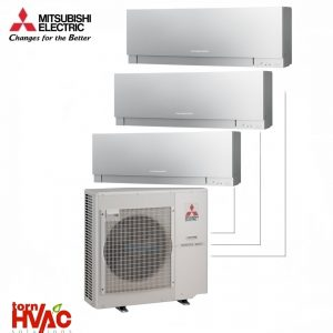 Aer conditionat Mitsubishi Electric Multisplit MXZ-4E83VA+2xMSZ-EF25VES+MSZ-EF35VES (2x9000 BTU+1x12000 BTU) Kirigamine Zen Argintiu