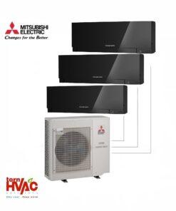 Aer conditionat Mitsubishi Electric Multisplit MXZ-4E83VA+2xMSZ-EF35VEB+MSZ-EF25VEB (2x12000 BTU+1x9000 BTU) Kirigamine Zen Negru