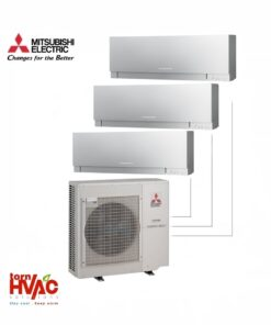 Aer conditionat Mitsubishi Electric Multisplit MXZ-4E83VA+2xMSZ-EF35VES+MSZ-EF25VES (2x12000 BTU+1x9000 BTU) Kirigamine Zen Argintiu
