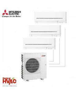 Aer conditionat Mitsubishi Electric Multisplit MXZ-4E83VAHZ+2xMSZ-AP25VG+MSZ-AP35VG (2x9000 BTU+1x12000 BTU) - incalzire 100% la -15 °C