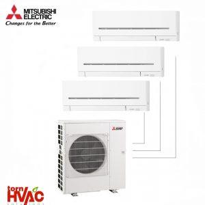 Aer conditionat Mitsubishi Electric Multisplit MXZ-4E83VAHZ+2xMSZ-AP35VG+MSZ-AP25VG (2x12000 BTU+1x9000 BTU) - incalzire 100% la -15 °C