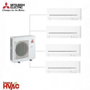 Aer conditionat Mitsubishi Electric Multisplit MXZ-4E83VAHZ+4xMSZ-AP25VG (4x9000 BTU) - incalzire 100% la -15 °C
