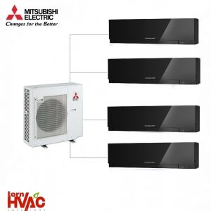 Aer conditionat Mitsubishi Electric Multisplit MXZ-5E102VA+3xMSZ-EF25VEB+MSZ-EF35VEB (3x9000 BTU+1x12000 BTU) Kirigamine Zen Negru