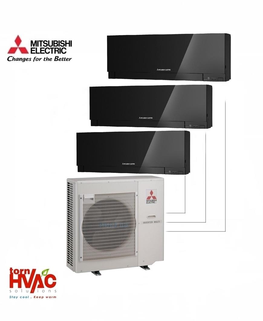 Aer conditionat Mitsubishi Electric Multisplit MXZ-5E102VA+3xMSZ-EF35VEB (3x12000 BTU) Kirigamine Zen Negru